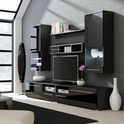 Jorah Entertainment Center Color: Black Gloss