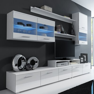 Andrea Entertainment Center Color: White Gloss