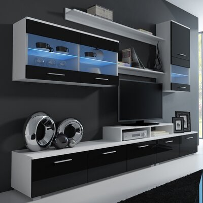 Andrea Entertainment Center Color: White/Black