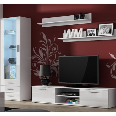 Keegan Entertainment Center Color: White Gloss