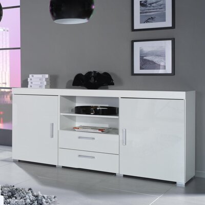 Fabiola High Gloss Sideboard Color: White