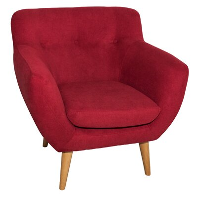Aydan Armchair Upholstery: Red