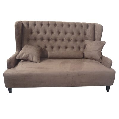 Sidra Standard Wooden Loveseat Upholstery: Brown