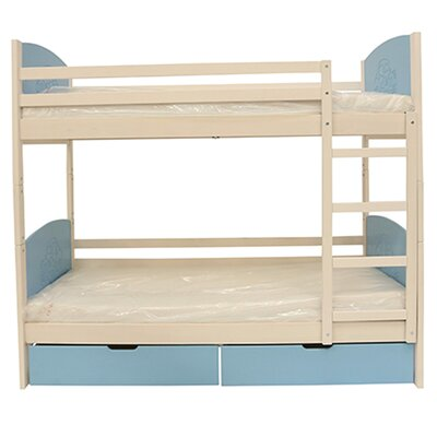 Cori Bunk Toddler Bed Bed Frame Finish: Natural/Yellow