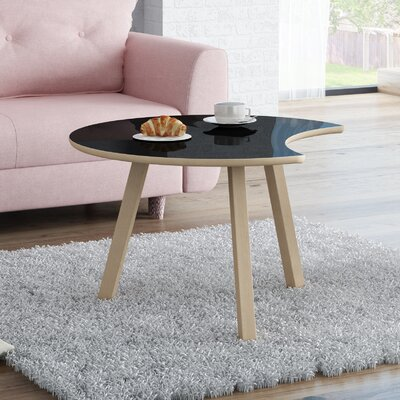 Blandford Wood Coffee Table Top Finish : Gloss Black
