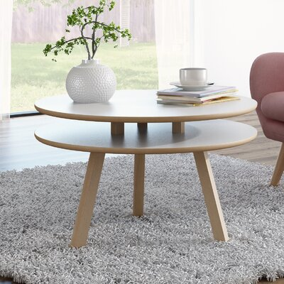 Blandford Beech wood Coffee Table Top Color: Matte White