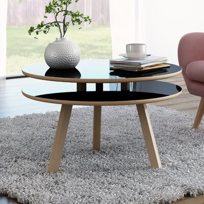 Blandford Beech Wood Coffee Table Top Color: Gloss Black