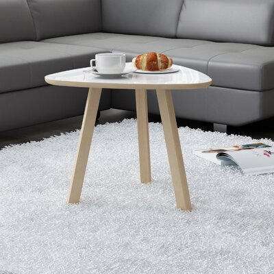 Blandford Triangle Coffee Table Top Color: Gloss White