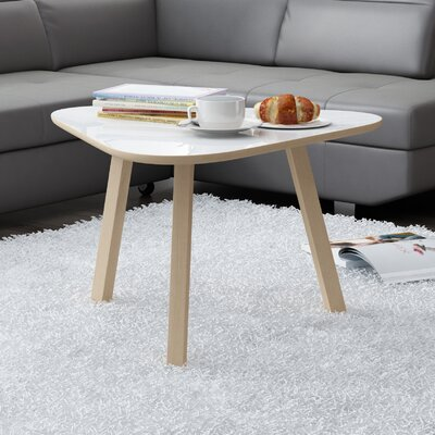 Blandford 3 Legs Coffee Table Top Color: Gloss White