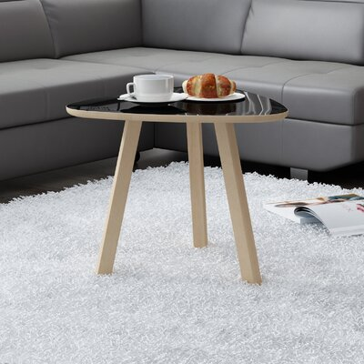 Blandford 3 Legs Coffee Table Top Color: Gloss Black