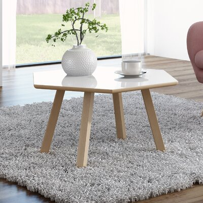 Blandford 4 Legs Coffee Table Top Finish : Gloss White