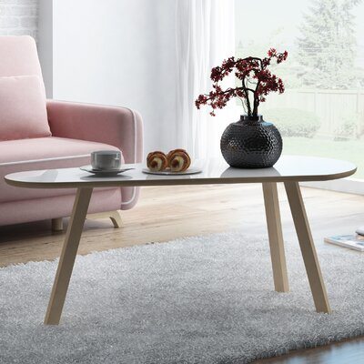 Blandford Contemporary Coffee Table Top Color: Gloss White