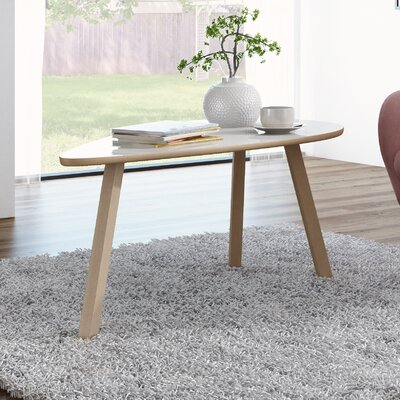 Blandford 3 Legs Triangle Coffee Table Top Finish: Gloss White