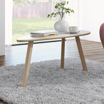 Blandford 3 Legs Triangle Coffee Table Top Finish: Matte White