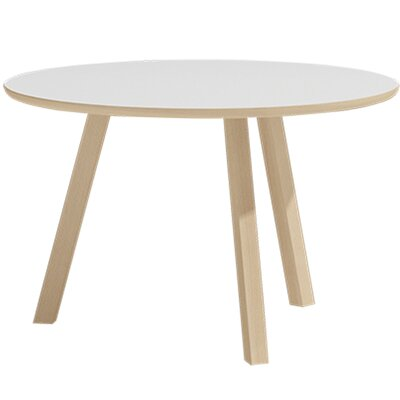Blandford Round End Table Finish: Matte White
