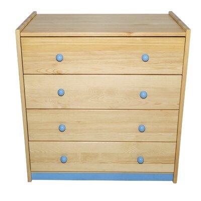 Cornell 4 Drawer Dresser Color: Blue