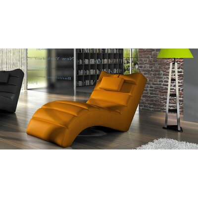 Merrie Chaise Lounger Upholstery: Orange