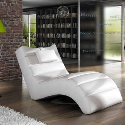 Merrie Chaise Lounger Upholstery: White