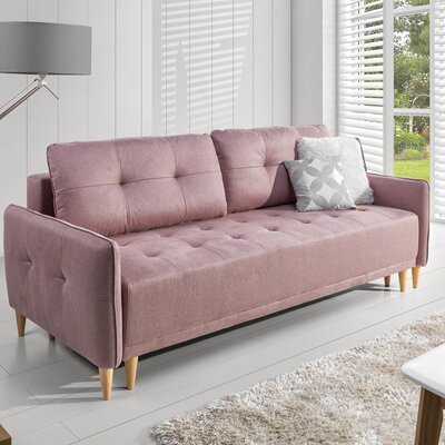Barry Sofa Color: Pink