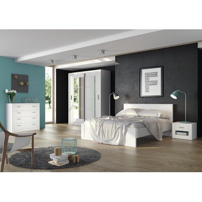Vincent Storage Platform Bed Size: European Queen
