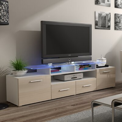 Damian 76 TV Stand Color: Beige