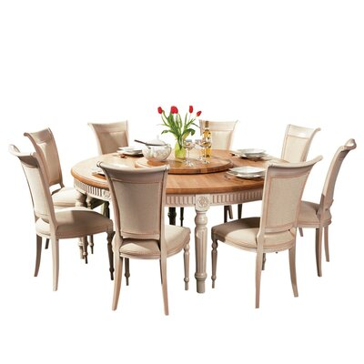 Drapeau Solid Wood Round Dining Table