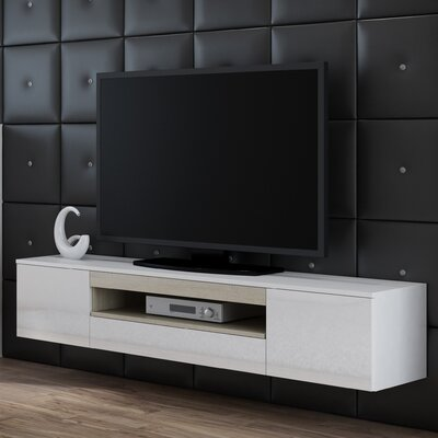 Samantha 71 TV Stand Color: White/Sonoma Oak