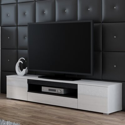 Samantha 71 TV Stand Color: White/Black