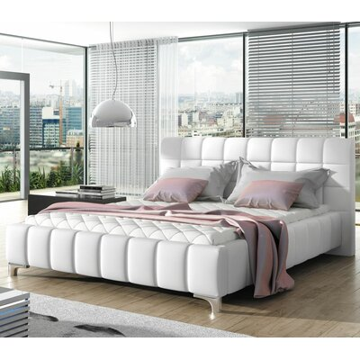Carvey Modern European Kingsize Upholstered Platform Bed