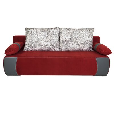 Yaretzi Sleeper Sofa Upholstery: Red