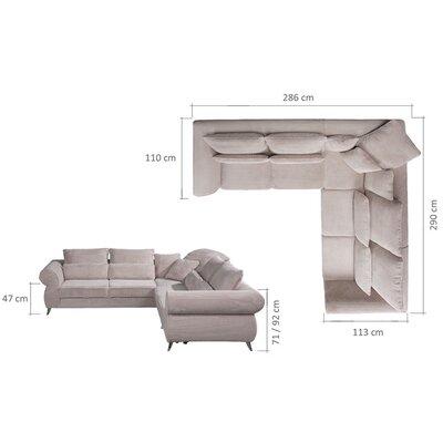 Klingensmith Sleeper Sectional Upholstery: Beige
