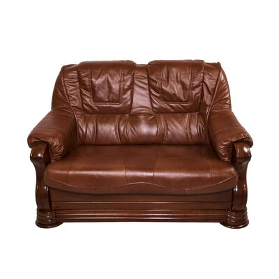 Bobby Jones Genuine Leather Loveseat