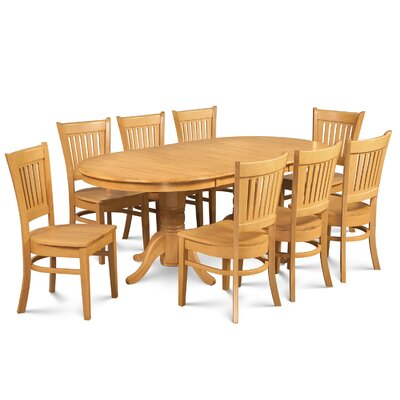 Lunde Traditional 9 Piece Dining Set Finish: Oak