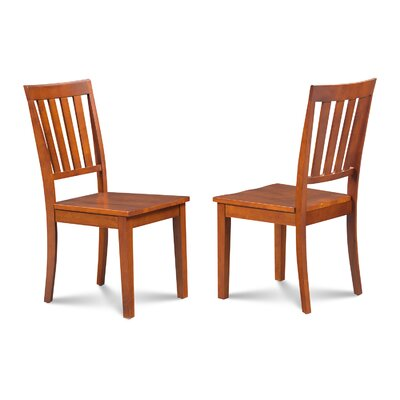 Chicago Dining Solid Wood Dining Chair Finish: Saddle Brown