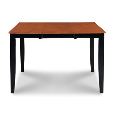 Charlestown Counter Height Extendable Dining Table Finish: Black