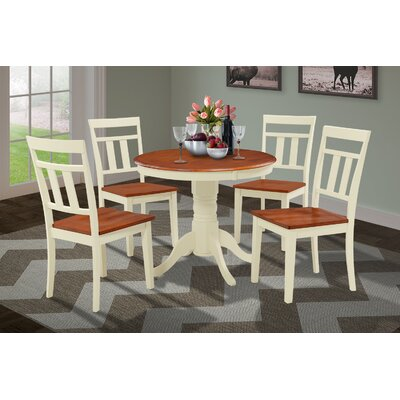 Cedarville 5 Piece Solid Wood Dining Set Finish: Buttermilk/Cherry