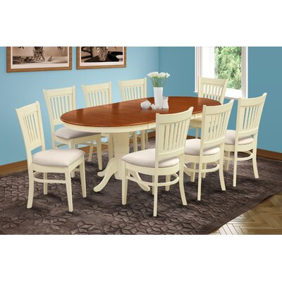 Inwood 9 Piece Dining Set Finish: Buttermilk/Cherry