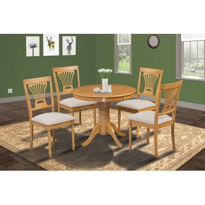 Cedarville Contemporary 5 Piece Wood Dining Set Finish: Oak