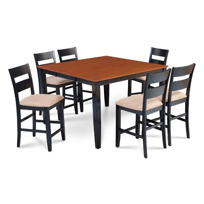 Charlestown 7 Piece Hardwood Counter Height Dining Set