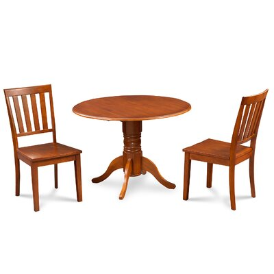 Chesterton Traditional 3 Piece Wood Dining Set Finish: Saddle Brown