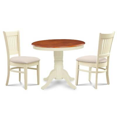 Cedarville 3 Piece Dining Set Finish: Buttermilk/Cherry