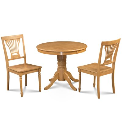Cedarville Contemporary 3 Piece Wood Dining Set Finish: Oak