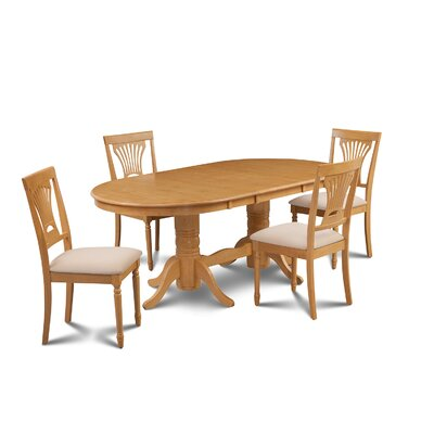 Inwood 5 Piece Dining Set Finish: Oak