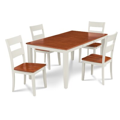 Charlestown 5 Piece Hardwood Dining Set Finish: White