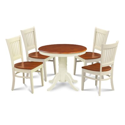 Cedarville 5 Piece Dining Set Finish: Buttermilk/Cherry