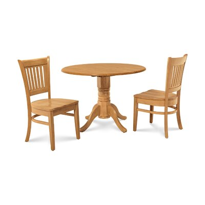Thornhill 3 Piece Drop Leaf Dining Set Color: Oak