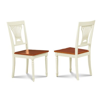 Inwood Solid Wood Dining Chair Finish: Buttermilk/Cherry