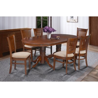 Lunde 7 Piece Dining Set Finish: Espresso