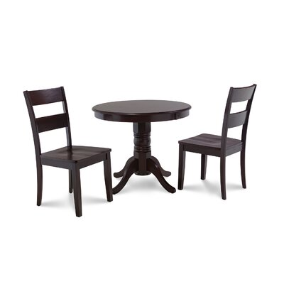 Cedarville Elegant 3 Piece Wood Dining Set Finish: Cappuccino