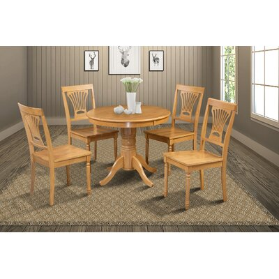 Cedarville Contemporary 5 Piece Dining Set Finish: Oak